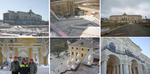 реставрация, Константиновский дворец, Менщиковский дворец, Висячие сады Эрмитажа
